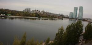 город Астана вид из окна