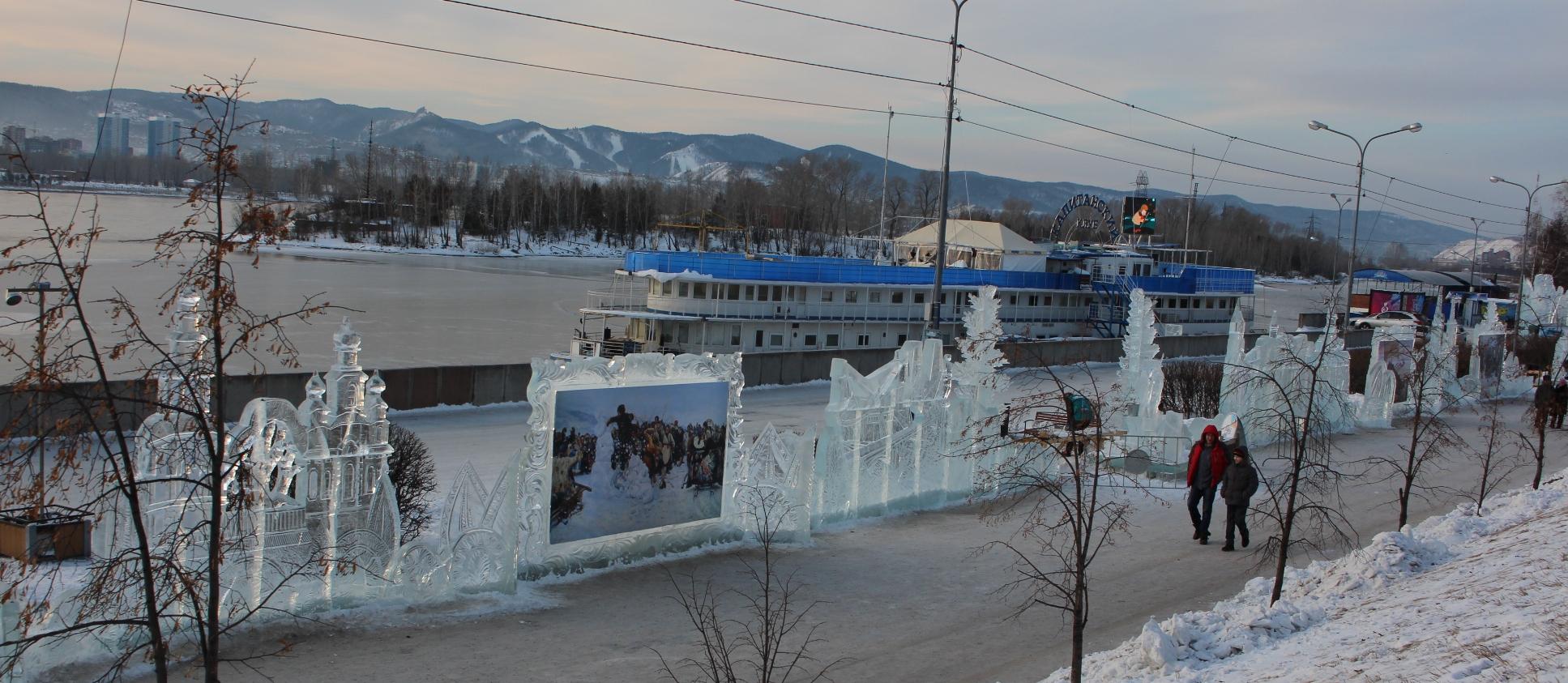 фестиваль, Волшебный лед Сибири, Красноярск, Коммунистический мост, в Красноярске, ледяные скульптуры, Марина Шамина