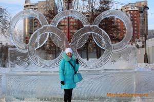 Волшебный лед Сибири, Марина Шамина, Красноярск, Символ олимпиады, олимпийские кольца, в Красноярске,