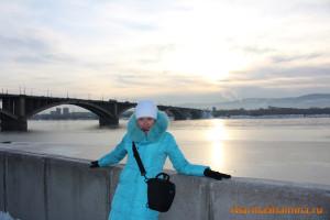 Марина Шамина, Красноярск, Коммунистический мост, в Красноярске, мост
