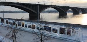 Волшебный лед Сибири, Красноярск, Коммунистический мост, в Красноярске, ледяные скульптуры, Марина Шамина
